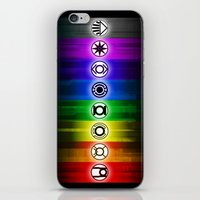 dc comics iPhone & iPod Skins featuring All Lantern Corps from DC Comics by Sberla