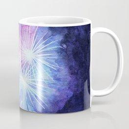 Blue and pink fireworks Coffee Mug