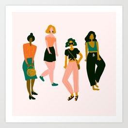 Four Fashionistas Art Print