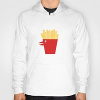 french fries Hoodies featuring Chicken Tenders and French Fries by Dang-Nam