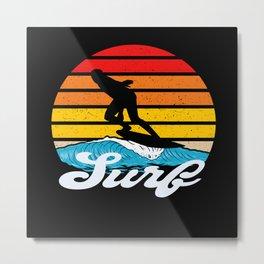 Surfer Style Metal Print