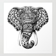 Ornate Elephant Head Art Print