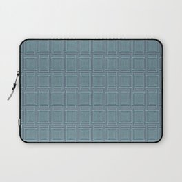 blue stitched background Laptop Sleeve