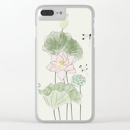 Pond of tranquility Clear iPhone Case