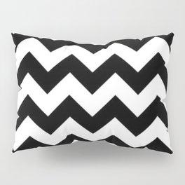 BLACK AND WHITE CHEVRON PATTERN - THICK LINED ZIG ZAG Pillow Sham