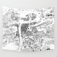 prague Wall Tapestries featuring PRAGUE by Maps Factory