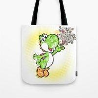 yoshi Tote Bags featuring Yoshi Wonderland !  by Art & Be