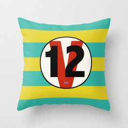 SRC Preparations Racecar Rebels: V12 British Throw Pillow