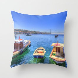 The Bosphorus Istanbul Throw Pillow