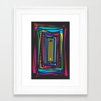 frames Framed Art Prints featuring Frames by Niko Psitos