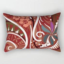 Samoan - Hawaiian - Polynesian Tribal Village Threads Rectangular Pillow