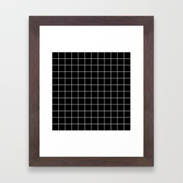 Grid Simple Line Black Minimalist Framed Art Print