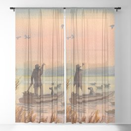 Duck Hunting On A perfect Day Sheer Curtain
