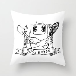 Boss Baker Throw Pillow