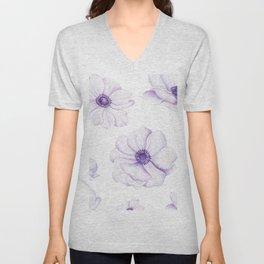 Anemones 2 White #society6 #buyart Unisex V-Neck