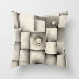 Quantum plate Throw Pillow
