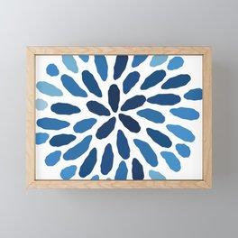 Indigo Flower Framed Mini Art Print