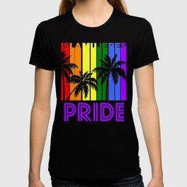 Isla Mujeres Pride Gay Pride LGBTQ Rainbow Palm Trees T-shirt