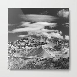 Mulhacen. Sierra Nevada. BW Metal Print