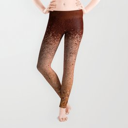 Earth Breeze Organic Wall Texture_Mauve & Ochre Rust Palette_Abstract  Leggings