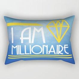 Positive Affirmation I am Millionaire Rectangular Pillow