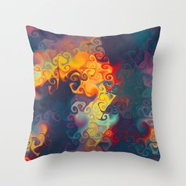 SMILE a cornucopia of colour dancing in flames Throw Pillow