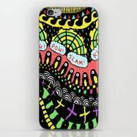 psycho iPhone & iPod Skins featuring Psycho by Saif Chowdhury