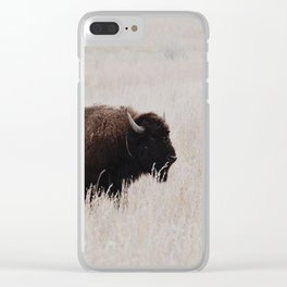 Oklahoma bison Clear iPhone Case