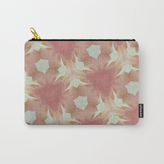 Geometric Floral Design - Pink Carry-All Pouch
