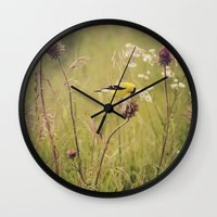 elmo Wall Clocks featuring Life in the Meadow by Kimberley Britt