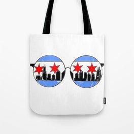chicaGOggles skyline Tote Bag