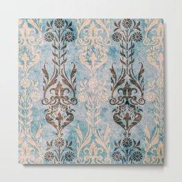 Vintage Paper Patterns: Antique Aqua Metal Print