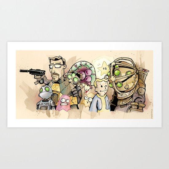 gaming. Art Print