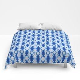 rotary tie-dye pattern in cobalt Comforters