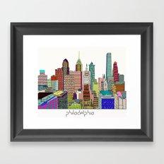 Philadelphia city sklyine Framed Art Print