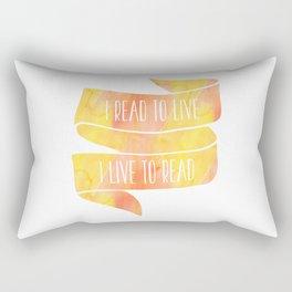 I Read To Live, I Live To Read - Orange/Yellow Rectangular Pillow