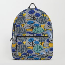 Trees in Gold Backpack