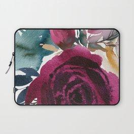 Merlot Floral Laptop Sleeve
