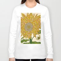 georgia Long Sleeve T-shirts featuring Georgia Sunflower by valerie lorimer