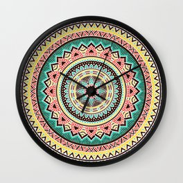 Hippie Mandala 13 Wall Clock