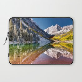 OLena Art Maroon Bells And Maroon Lake Near Aspen Colordo Laptop Sleeve