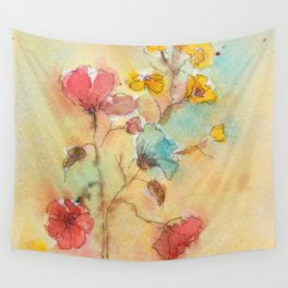 Vintage flowers (watercolor) Wall Tapestry