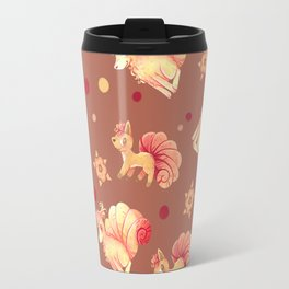 Vulpix & Ninetales pattern Travel Mug