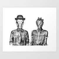 Gentleman Buck and Lady Doe Art Print
