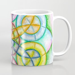 Fundamental Patterns of the Universe - The Rainbow Tribe Collection Coffee Mug