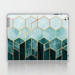 Teal Hexagons Laptop & iPad Skin