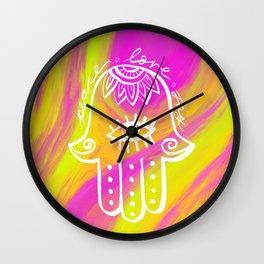 Peace, Love, Joy Wall Clock