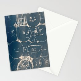 bubble faces Stationery Cards