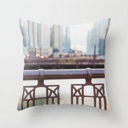 River Walk - Chicago Photography Throw Pillow