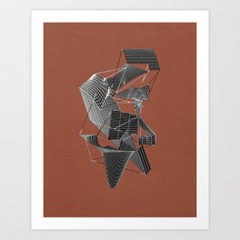 Uneven Terrain Art Print
